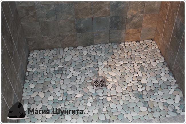 шунгит в ванной